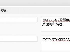 Wordpres添加meta标签设置关键词和描述
