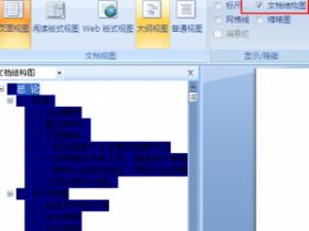 取消 Word 2003/ Word 2007 文档结构图视图蓝色背景